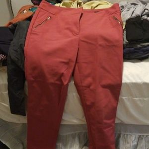 LOFT Marisa skinny 8 pink pants trousers